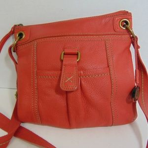 Sak Leather Handbag Kendra Coral Crossbody Purse